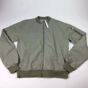 NWT Enslaved bomber Jacket Mens Size small green